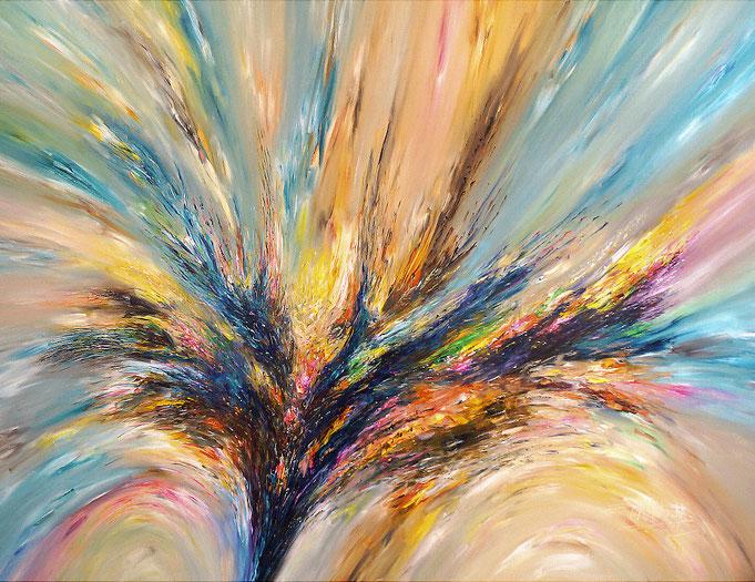 Großformat, abstraktes Gemälde