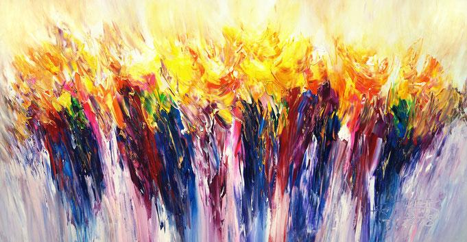 Abstraktes Acrylgemälde,