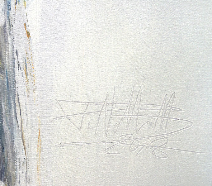 Signatur des Künstlers Peter Nottrott mit Entstehungsjahr 2018