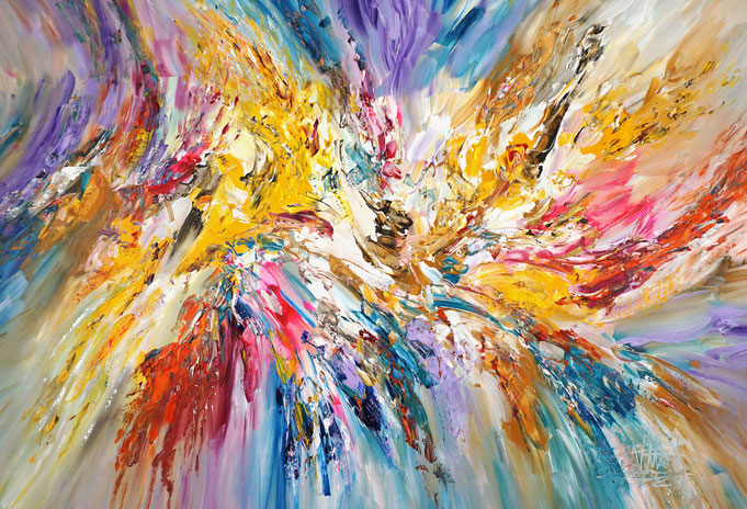 Abstraktes, braunes Gemälde