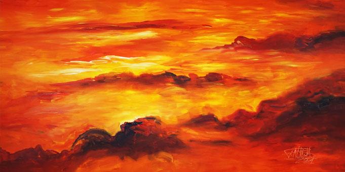 Sonnenuntergang Gemälde