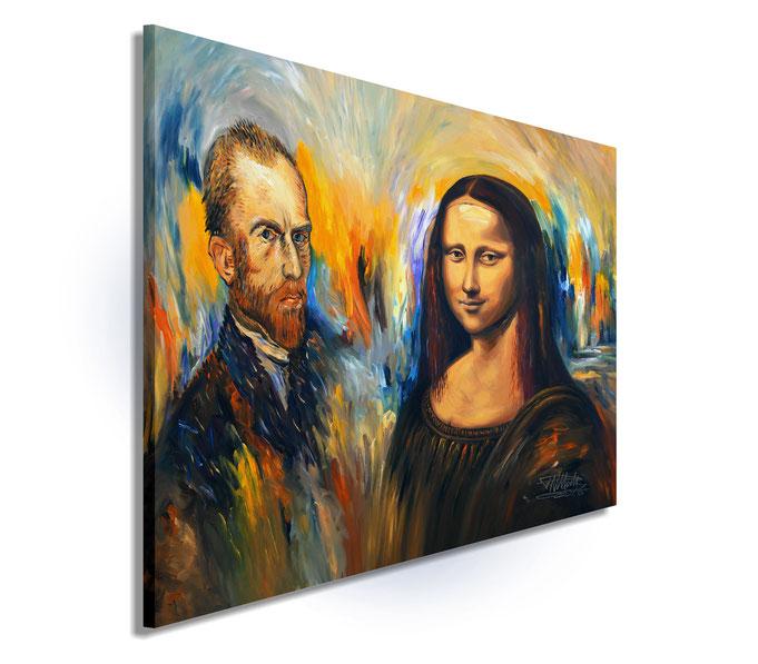 Mona Lisa und Vincent van Gogh, Impressionist, Renaissance