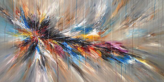 Großes, abstraktes Gemälde. Moderne Malerei