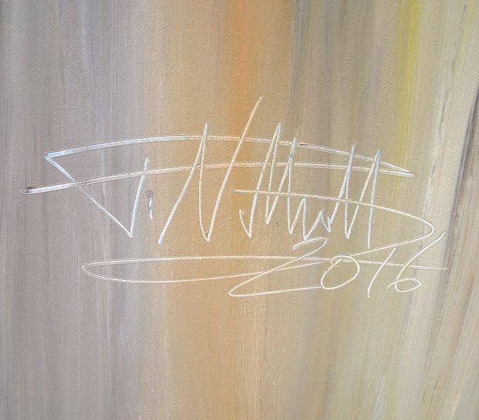 Signatur des Kunstmalers Peter Nottrott und Entstehungsjahr