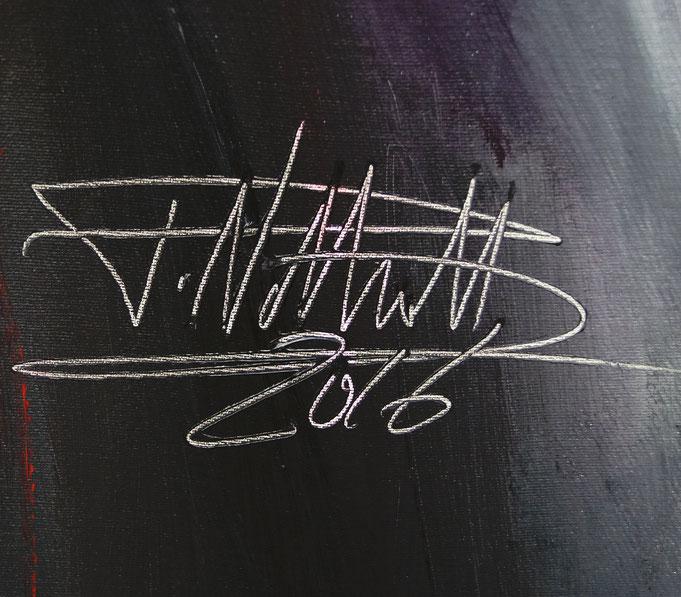 Signatur des Kunstmalers Peter Nottrott sowie Entstehungsjahr
