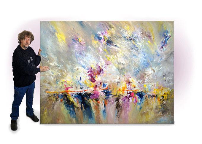 abstraktes Gemälde im Großformat 5,2 qm Bildfläche