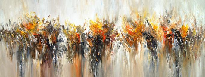 rote abstrakte Malerei. Modernes Gemälde