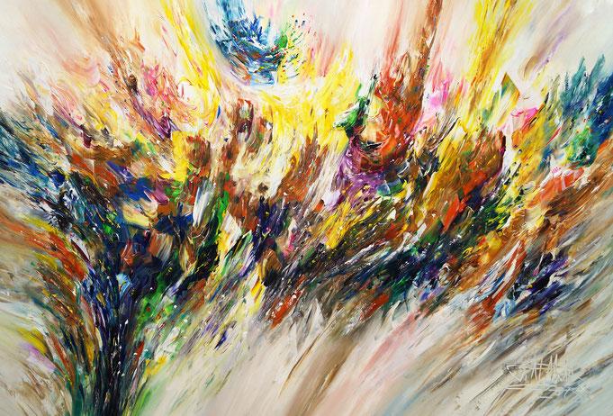 Abstraktes, modernes Gemälde. Original