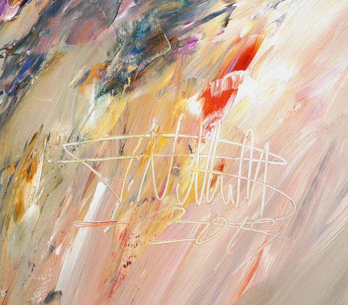 Extra großes abstraktes Gemälde