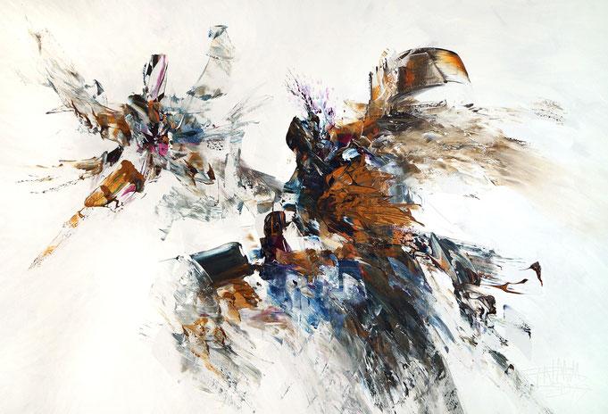 Abstraktes Acrylbild