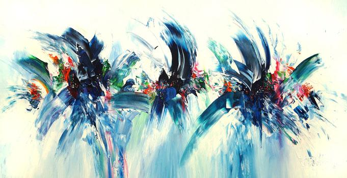 Maritime Malerei, Abstraktes Acrylgemälde