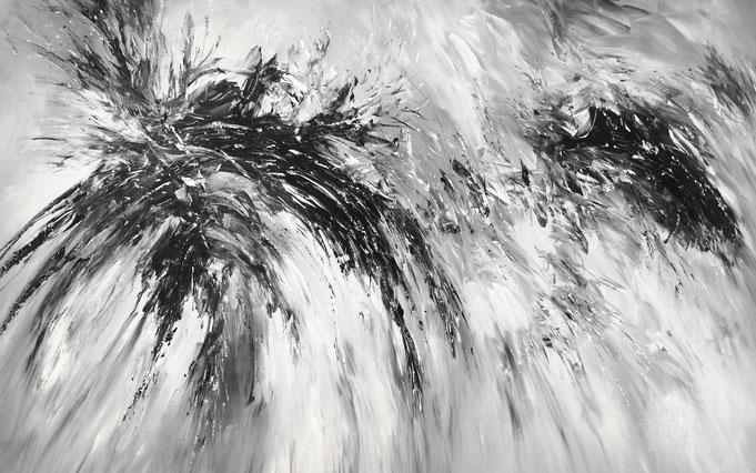 schwarz weiß, abstrakt