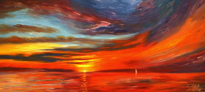 maritime abstrakte Malerei. Modernes Gemälde