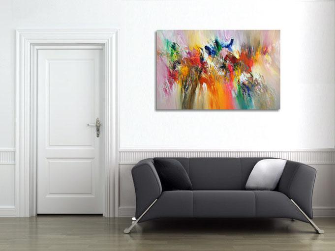 farbintensives Acrylgemälde