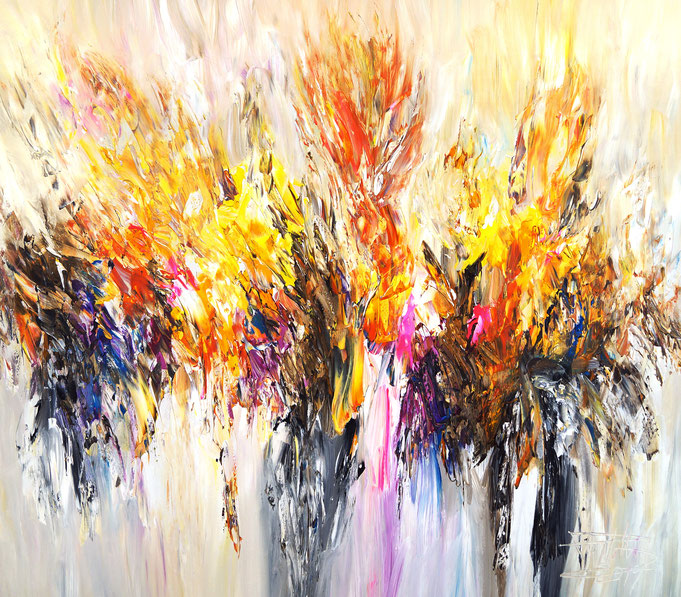 Abstraktes Acrylbild modern, leinwand