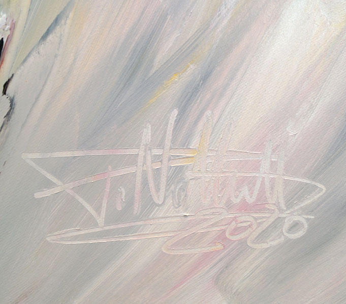 Signatur des Kunstmalers Peter Nottrott und Jahr der Entstehung: 2020
