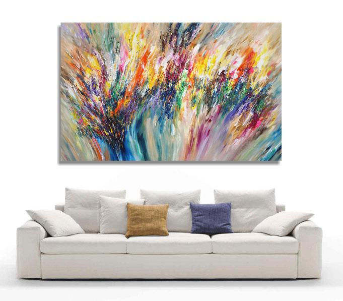 extreme Größe abstraktes Gemälde