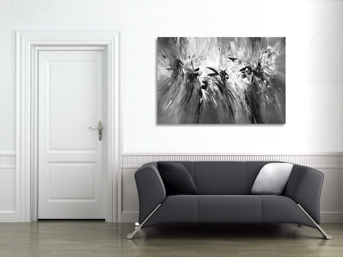 .. so wirkt das Gemälde im Raum