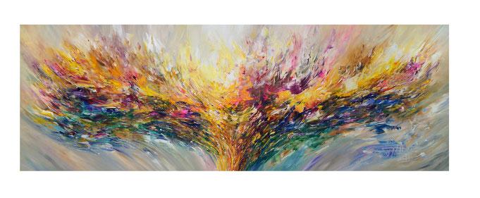 Abstraktes Gemälde. Elegantes Großformat