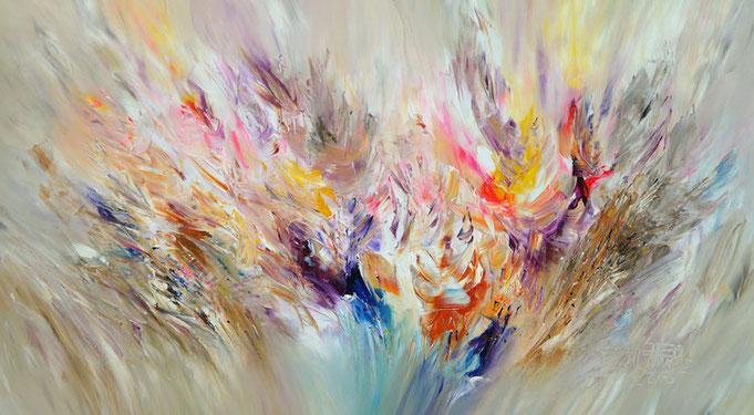 Abstraktes Acrylbild  Original Gemälde auf Leinwand.