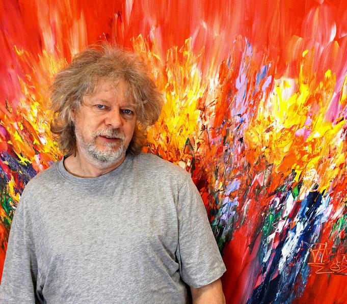 gerade fertig: Peter Nottrott mit Red Energy M 2