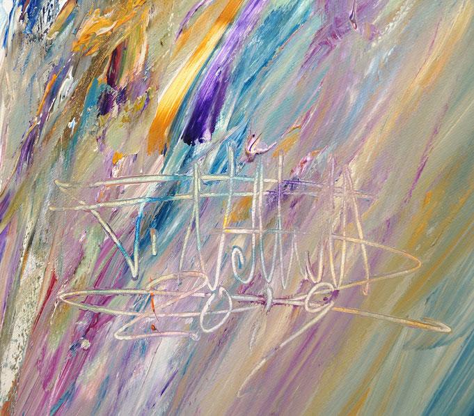 Signatur des abstrakten Bildes