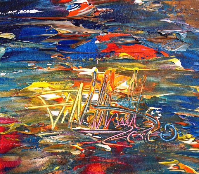 Signatur und Entstehungsjahr, unten rechts auf dem Gemälde