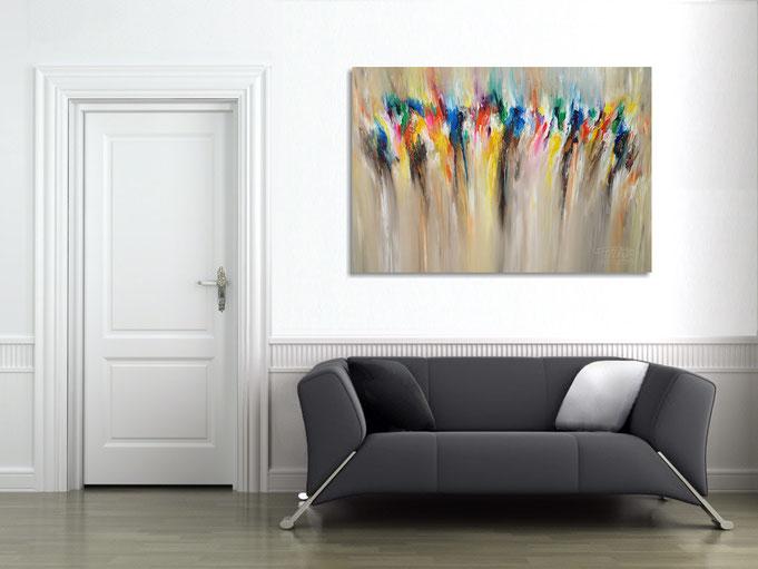 acryl, Gemälde, Original, Kunst, modern