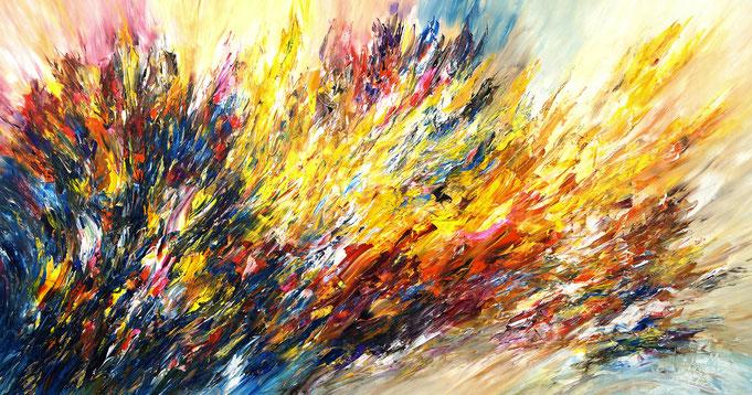 Großes, abstraktes Bild. Moderne Malerei