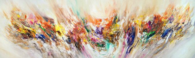Abstrakte Malerei. Elegantes Großformat