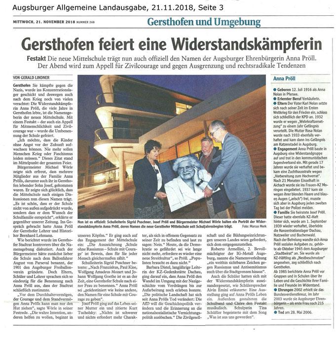 Mit freundlicher Genehmigung der Augsburger Allgemeinen