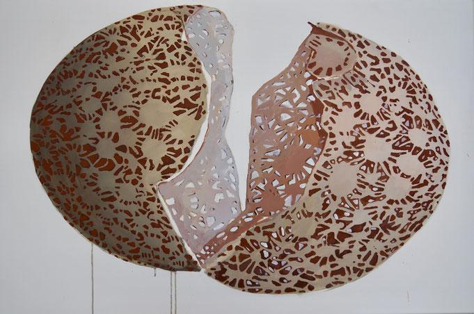 """BILD-Nr.:  206   """"COVID-19"""", Acryl auf Baumwolle, 80 x 120 cm, 2020"""
