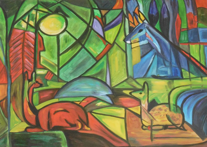 Bild aus dem Schulgebäude zeigt Kunst