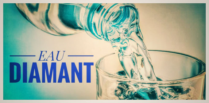 eau diamant,joel ducatillon,adn850,bouteille,eau,verre