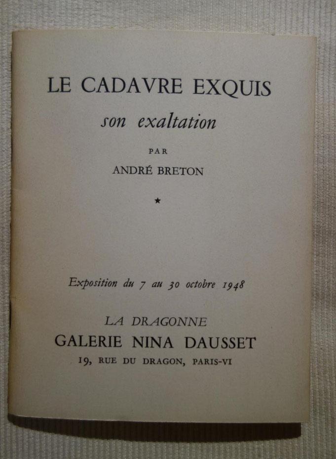 André Breton, Le cadavre exquis, son exaltation, livre rare, édition originale