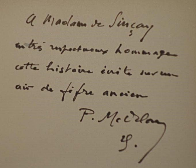 livre rare ancien, Pierre Mac Orlan, Le Chant de l'équipage, envoi de l'auteur