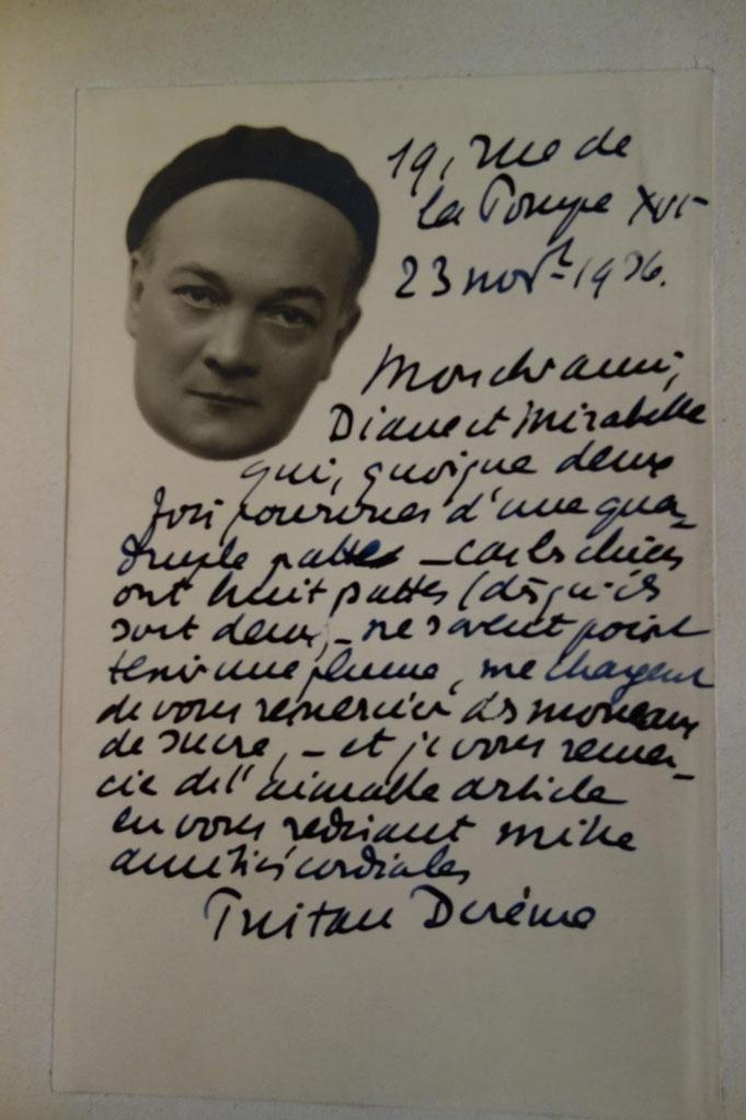 Tristan Derème, La Verdure dorée, 1922, livre rare, édition originale, manuscrit autographe, carte postale autographe signée