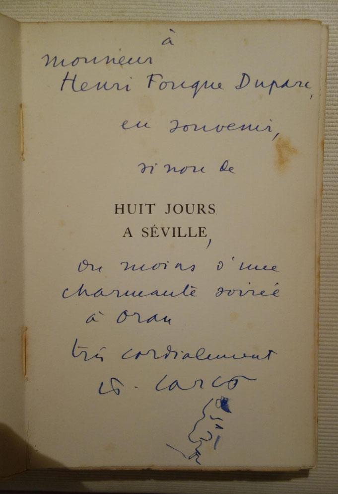 Francis Carco, Huit jours à Séville, livre rare, édition originale