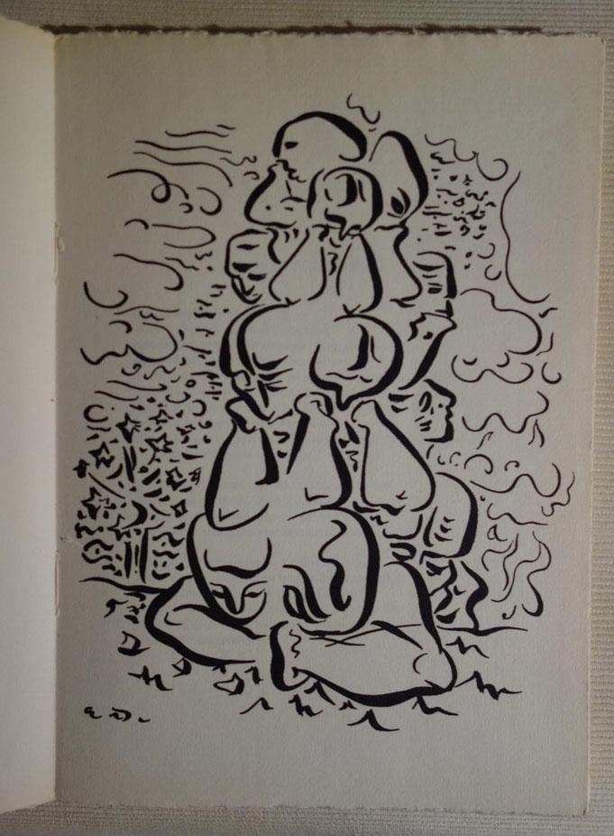 Tristan Tzara, Terre sur terre, Trois Collines, 1946, dessins d'André Masson, livre rare, édition originale