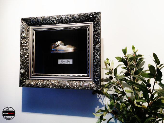 Schoentje verzilveren en inlijsten