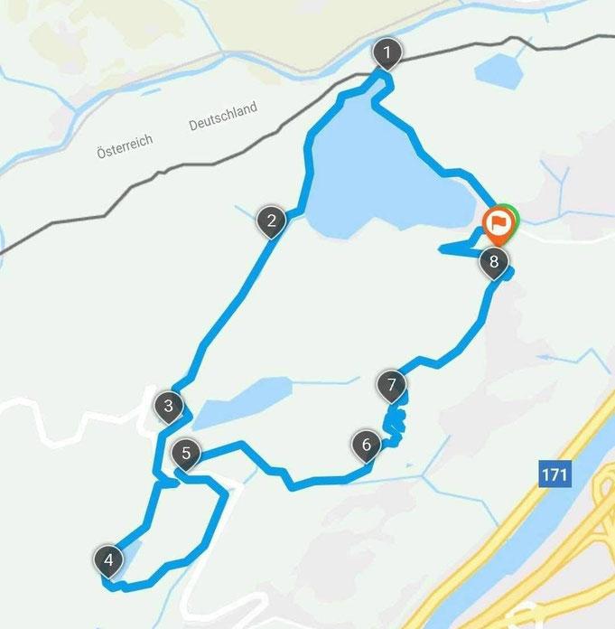 Unsere Route um die 3-Seen