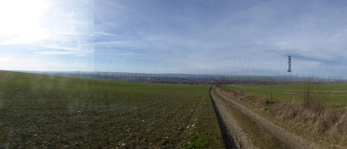 Das Panorama mit dem Brocken