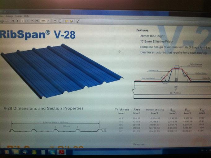 Prospect Aluminium Dacheindeckung