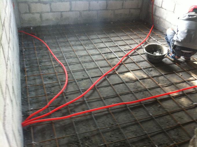 Bodenarmierung mit Elektroleerrohren