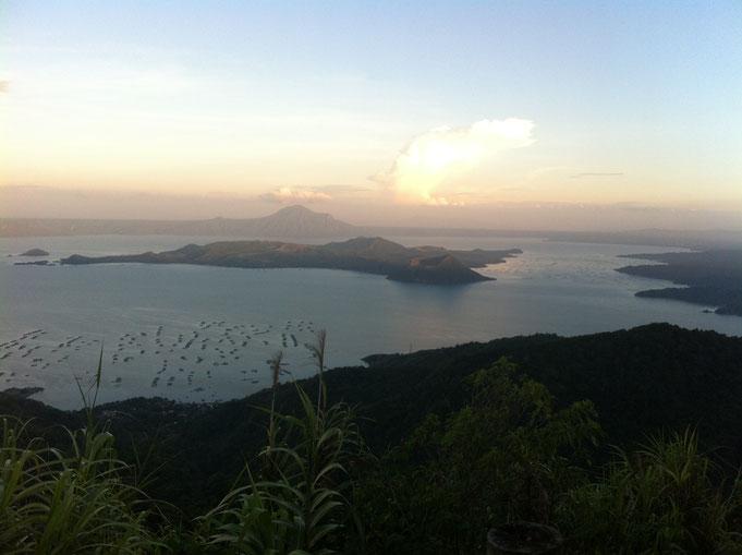 Vulkan im See