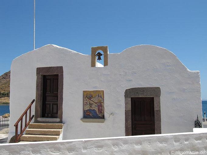 Die Johanneskapelle nördlich des Hafens von Skala