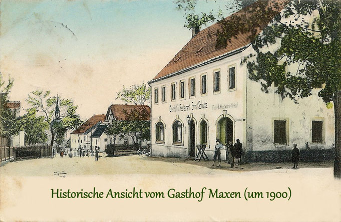 Historische Postkarte vom Gasthof Maxen (Nachdruck)