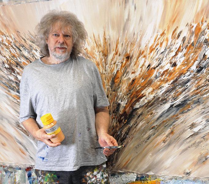 gerade fertig: Peter Nottrott mit Positive Nature Energy XXL 1