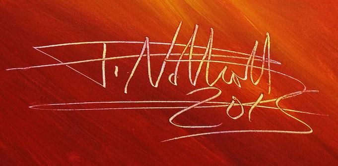 Signatur des Kunstmalers Peter Nottrott mit Entstehungsjahr,  rechts unten