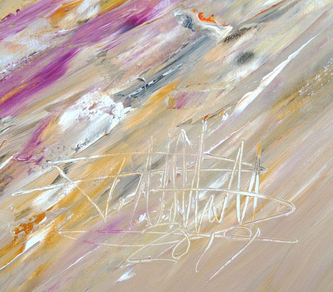 Signatur des Kunstmalers Peter Nottrott mit Entstehungsjahr,  aufdem Gemälde rechts unten